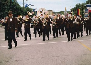Der MVL marschiert bei der Steuben-Parade in Philadelphia
